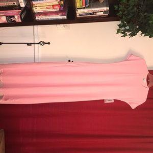 New LLR Maria xs pink and white polka dot